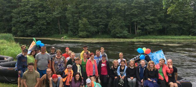 Rugpjūčio 11-12 dienomis vyko turistinis žygis plaustais Merkio upe!
